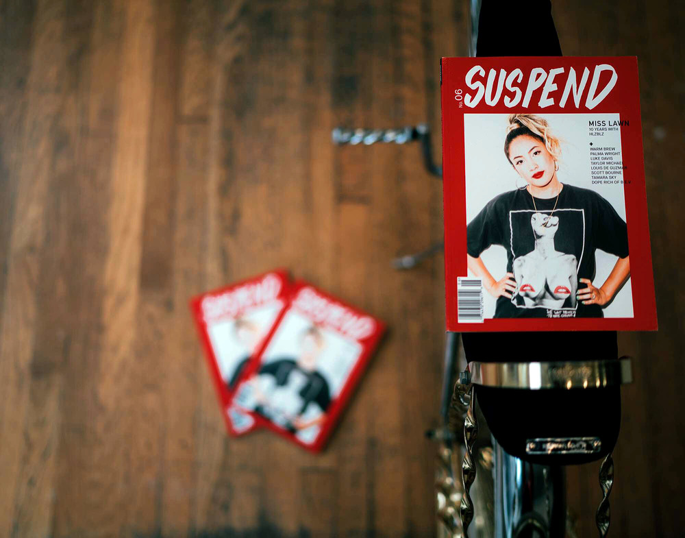 SUSPEND Magazine available at ESTATE in Seattle. / Photo Courtesy of David Lee