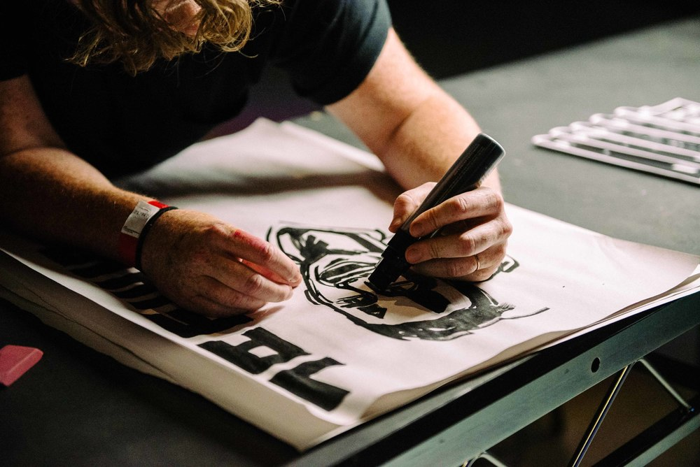 Illustrators showcase work at Adidas Mercury Center (June 3). Pictured: Illustrator  Brooke Thompson . / Photo: © Diane Abapo for SUSPEND Magazine.
