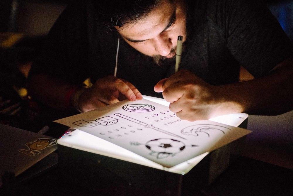 Illustrators showcase work at Adidas Mercury Center (June 3). / Photo: © Diane Abapo for SUSPEND Magazine.