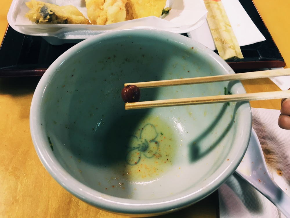 Ume, the perfect end to a beautiful bowl of ramen. // Photograph © Hannah R.J.A. Song / SUSPEND Magazine
