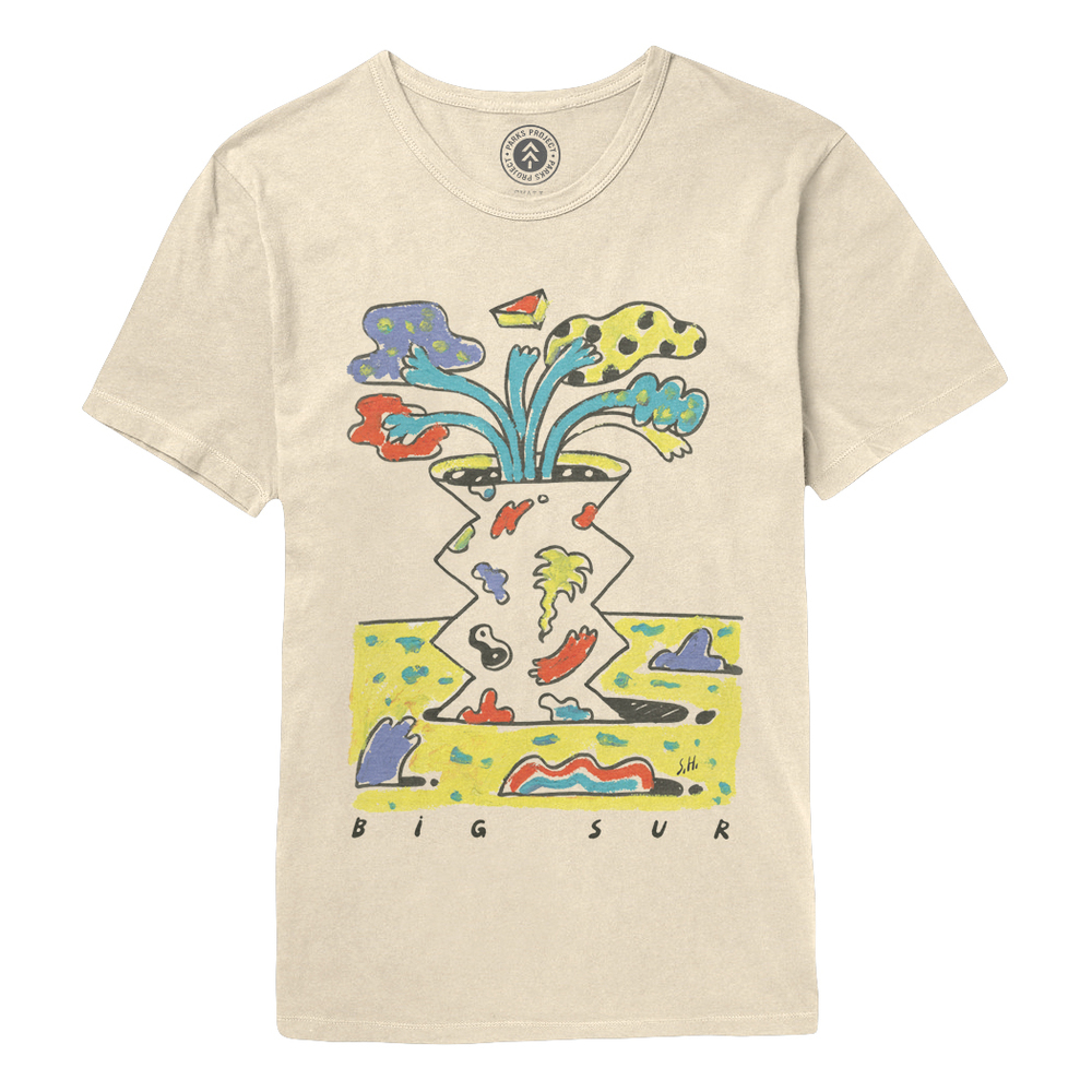 Parks Project  releases tee collaboration with Steven Harrington to benefit Henry Miller Memorial Library, $36. / Photo Courtesy of Parks Project