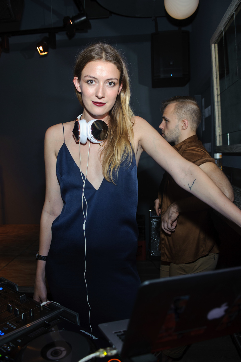 Leslie Kirchoff DJs at NYLON Nights Chicago at The Virgin Hotel on July 28, 2016 in Chicago, Illinois.  (Photo by Timothy Hiatt/Getty Images for NYLON)