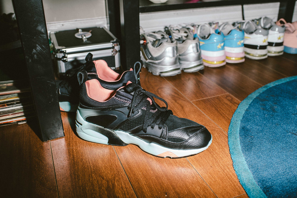 Introducing the  PINK DOLPHIN X PUMA® BLAZE OF GLORY IN BLACK