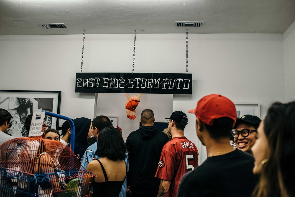"""East Side Story"" by Gil Veni Vici X HVW8 Gallery (Sept 23). / Photograph: © Diane Abapo / SUSPEND Magazine"