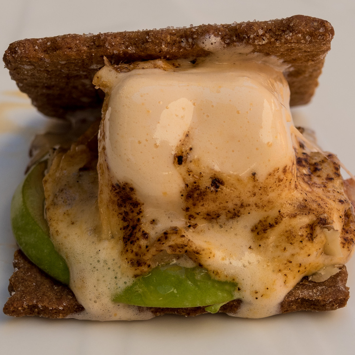 TREATERY: The Santa Ana dessert spot is making a series of Savory S'mores, including a herb spiced grahams, apples, and marshmallows made out of cheese