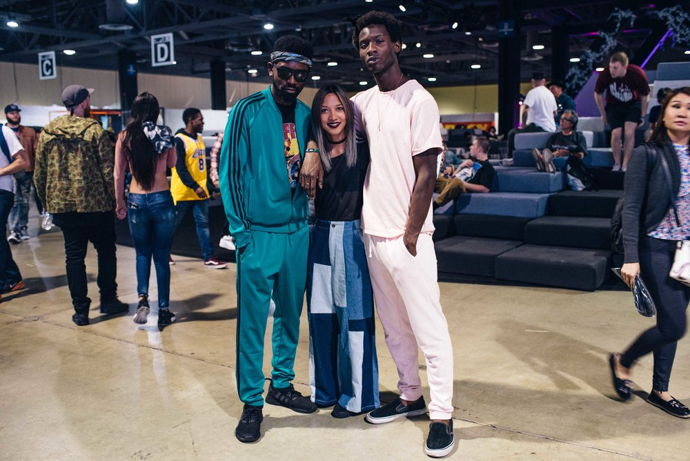 Ugo Mozie, Leslie, and Adonis at ComplexCon 2016. / Photo: © Diane Abapo for SUSPEND Magazine