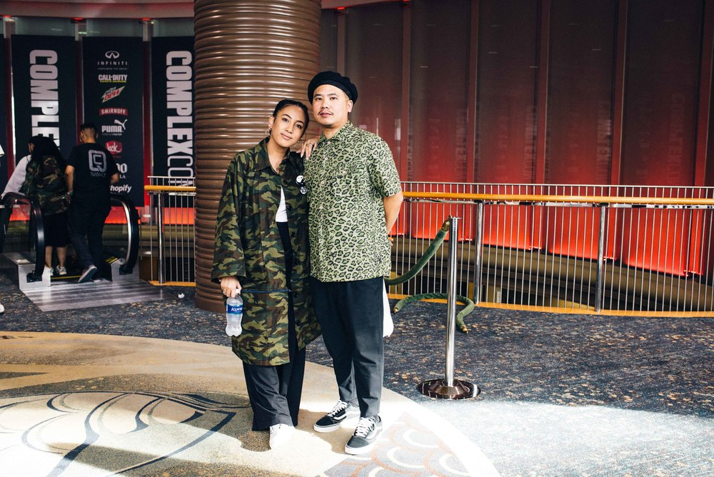 Miss Lawn of HLZBLZ and Bam Barcena at ComplexCon 2016. / Photo: © Diane Abapo for SUSPEND Magazine