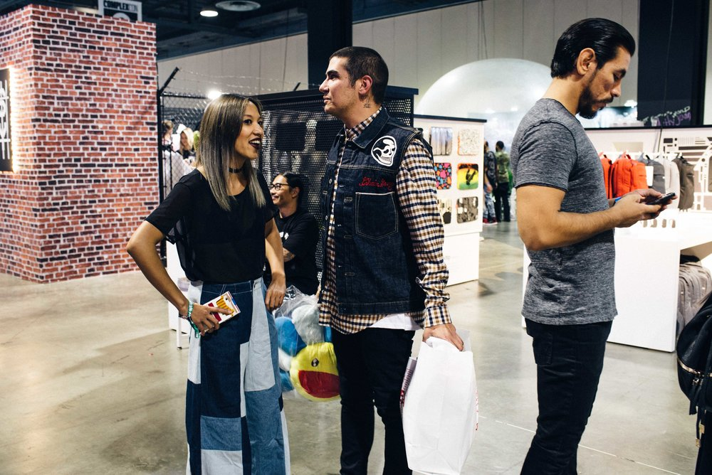 Leslie with Matt at the Chain Gang X InCase exhibit at ComplexCon 2016. / Photo: © Diane Abapo for SUSPEND Magazine