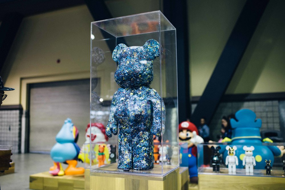 Jackson Pollock Bearbrick® at the BAIT installation at ComplexCon 2016. / Photo: © Diane Abapo for SUSPEND Magazine