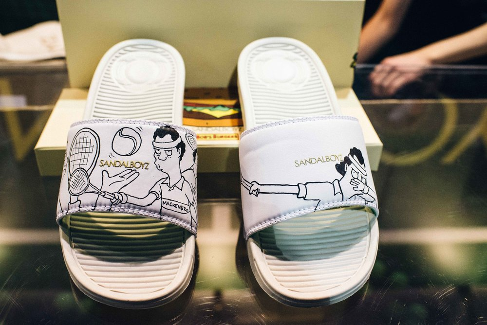 First look at the Bob's Burgers X SandalBoyz collaboration at ComplexCon 2016. / Photo: © Diane Abapo for SUSPEND Magazine