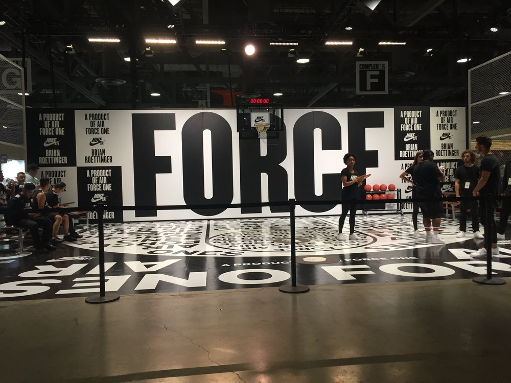Nike Air Force 1 booth at ComplexCon. / Photo © Hannah Song