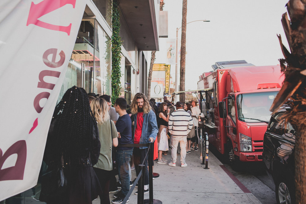 "The line for ""Cultures of LA"" presented by SUSPEND X The Creator's Corner on March 16 2017 / Photo © Courtesy of adidas"
