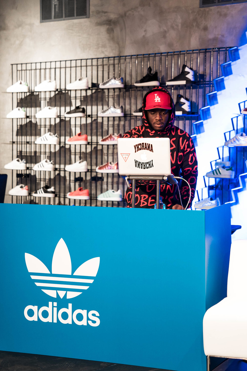 "A$AP Theo at SUSPEND Magazine's ""Cultures of LA"" with The Creator's Corner at adidas Melrose (March 16). / Photo © Kenny Vu for SUSPENDMAG.COM"