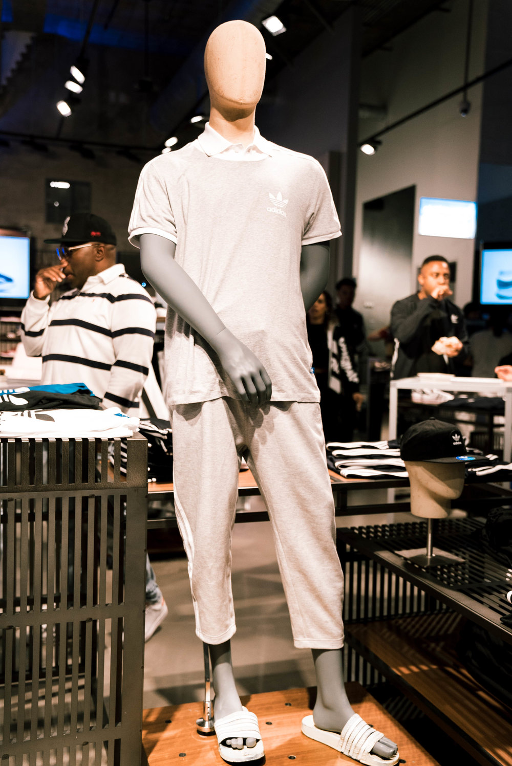"Mannequins styled in actual outfits as published at SUSPEND Magazine's ""Cultures of LA"" with The Creator's Corner at adidas Melrose (March 16). / Photo © Kenny Vu for SUSPENDMAG.COM"