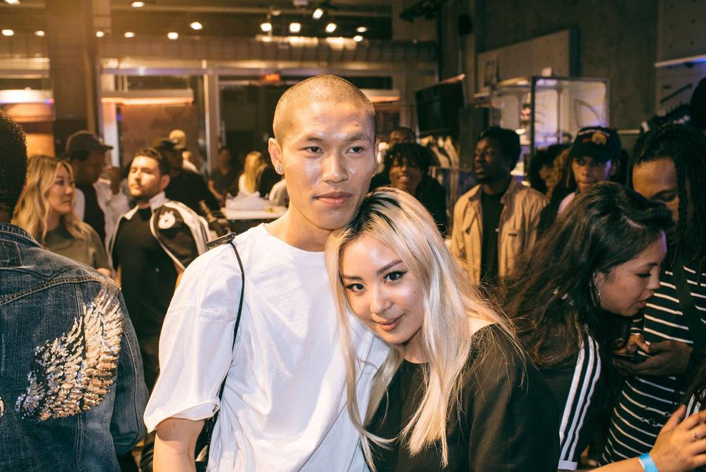 "Thom and Angella Choe at ""Cultures of LA"" (Mar 16 2017) / Photo © Leslie Corpuz for SUSPENDMAG.COM"