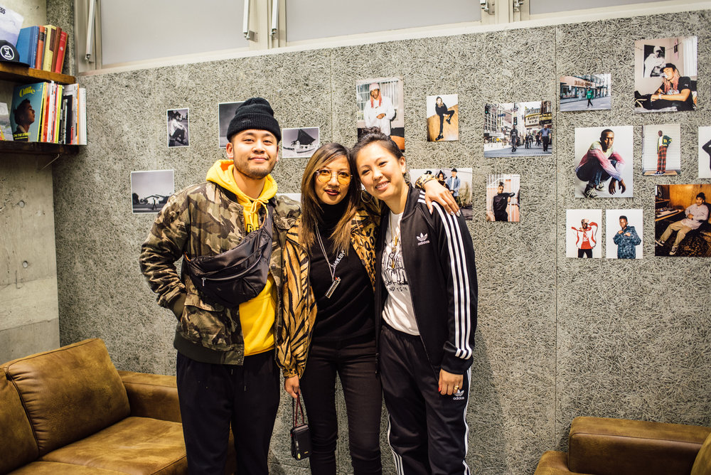 "Randy and Diane with Leslie Corpuz at the ""Across the Street"" photo show at Mortar Tokyo . / © SUSPEND Magazine"