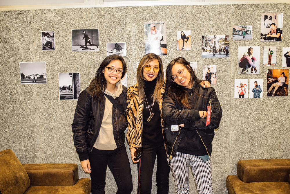 "Mykka Claveria with Leslie and Megan Corpuz at the ""Across the Street"" photo show at Mortar Tokyo . / © SUSPEND Magazine"
