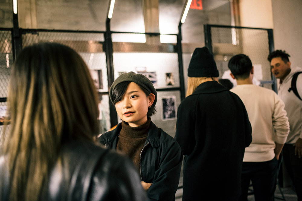 """Across the Street"" SUSPEND Magazine photo show (April 5) at Pizza Slice 2 in Tokyo. / Photo © SUSPENDMAG.COM"
