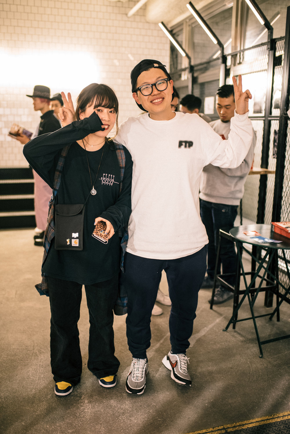 "Verdy and Tomu at ""Across the Street"" SUSPEND Magazine photo show (April 5) at Pizza Slice 2 in Tokyo. / Photo © SUSPENDMAG.COM"