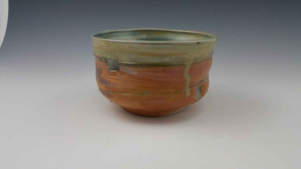 Wood Fired Teadust Altered Bowl