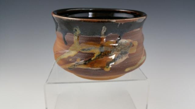 wood fired temoku altered bowl