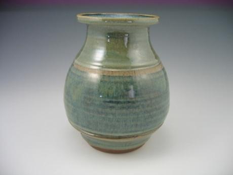 Sage Sodium Silicate Vase