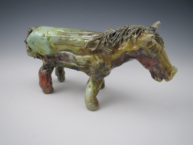 Raku Sculptured Horse