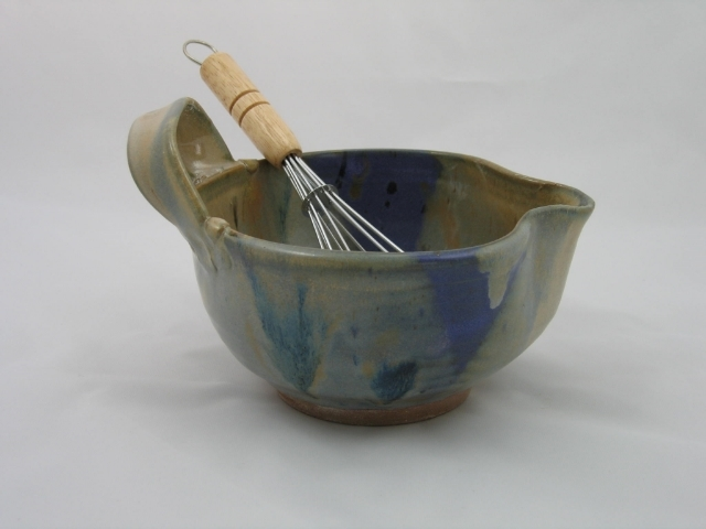 Sage/Lupine Batter Bowl with Handle