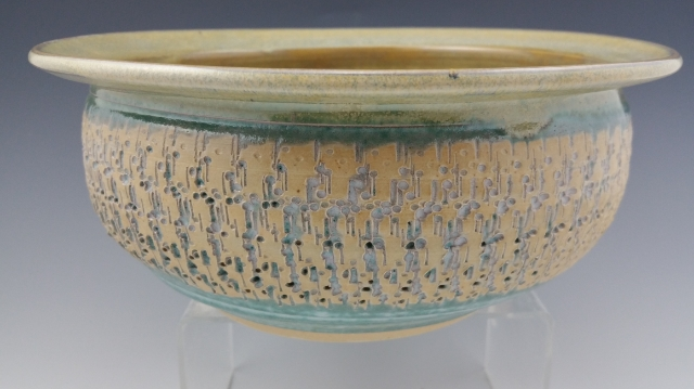 Sage Etched Bowl