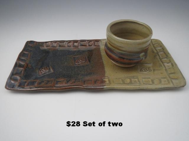 Teadust/Woo Woo Blue Plate & Bowl Set