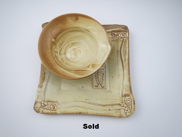 Yellow Salt Plate & Bowl Set