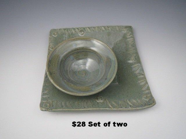 Sage Plate & Bowl Set