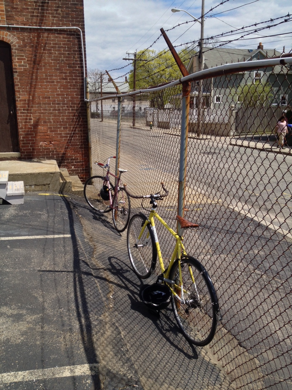 100% of the office biked to the construction site today. Win!