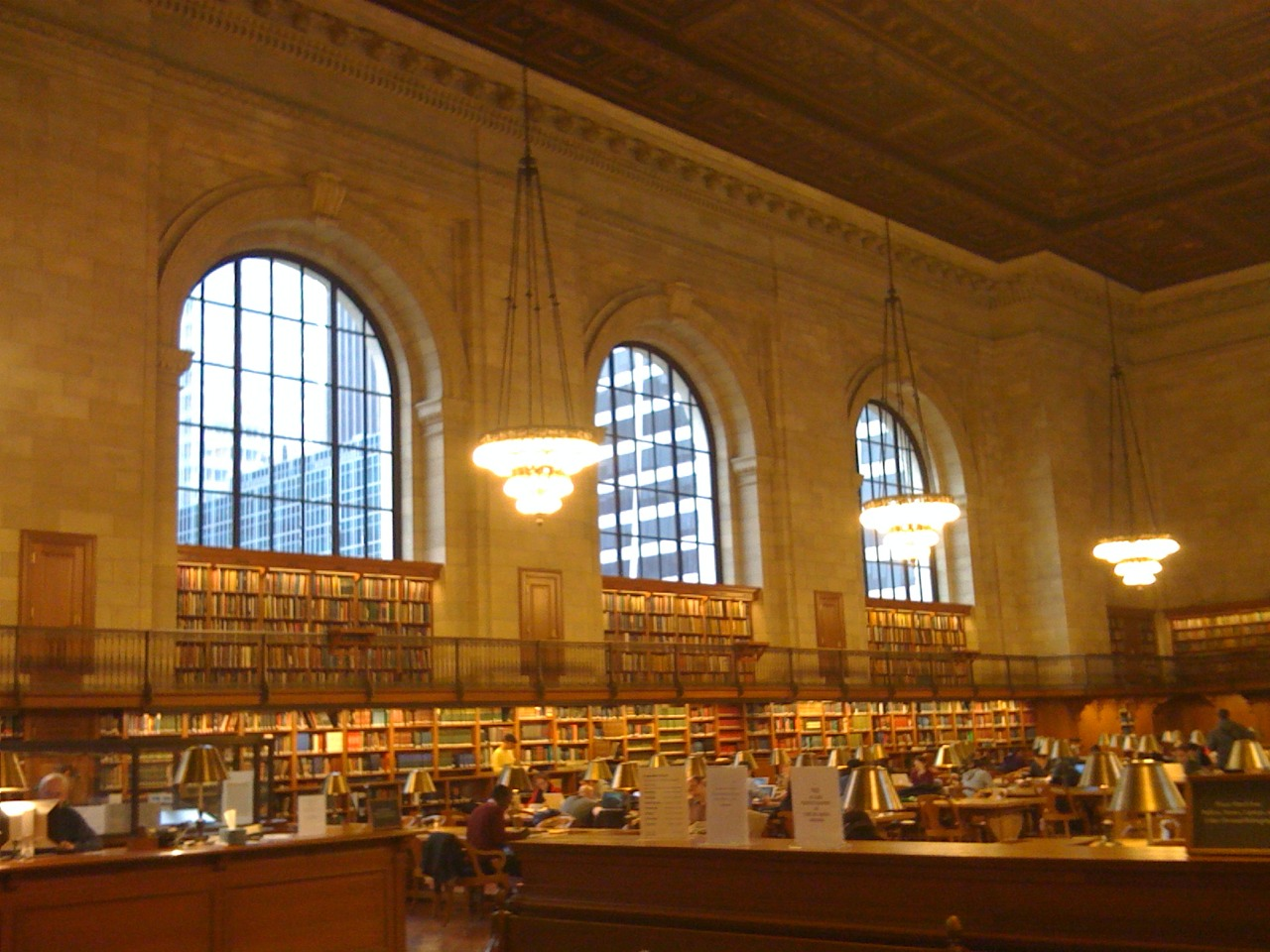 Grand reading room- New York public library