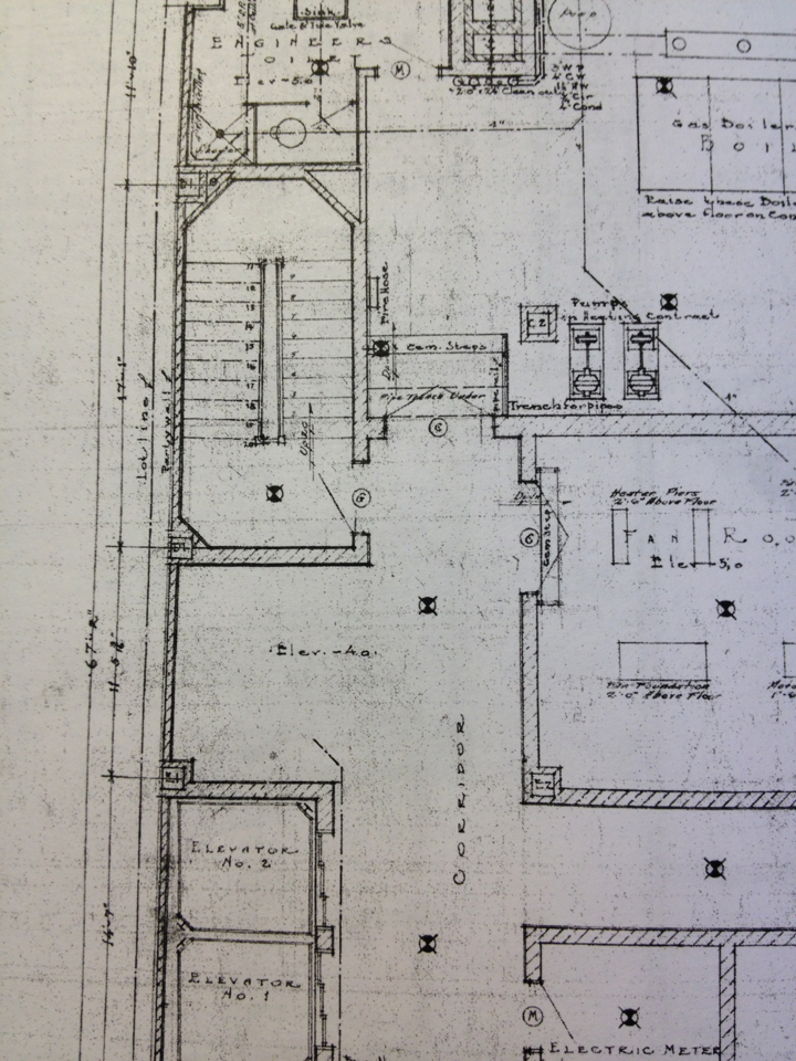 Back when architects *really* drew. Original plans from 1924 from one of my projects.