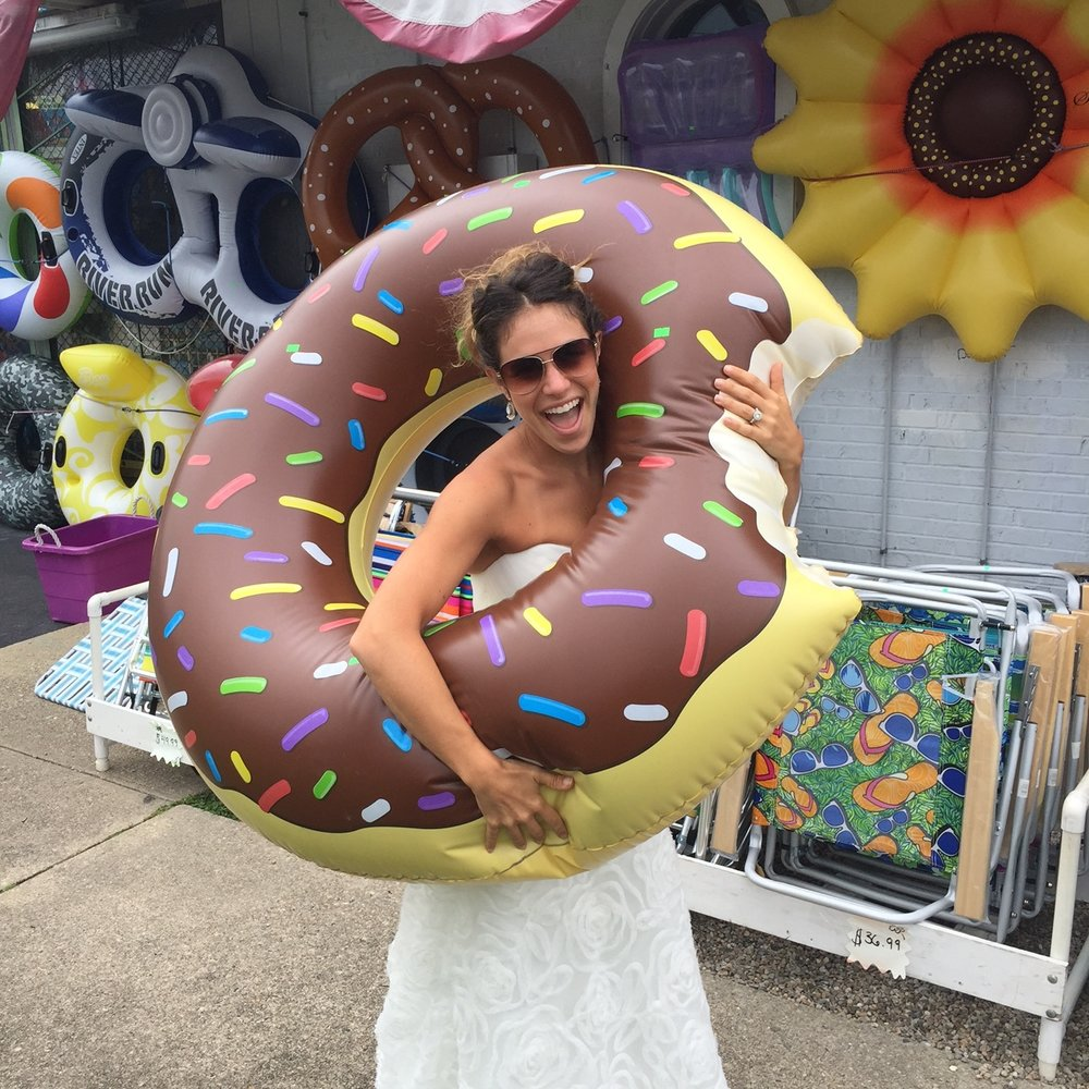wedding dress donut shop.JPG