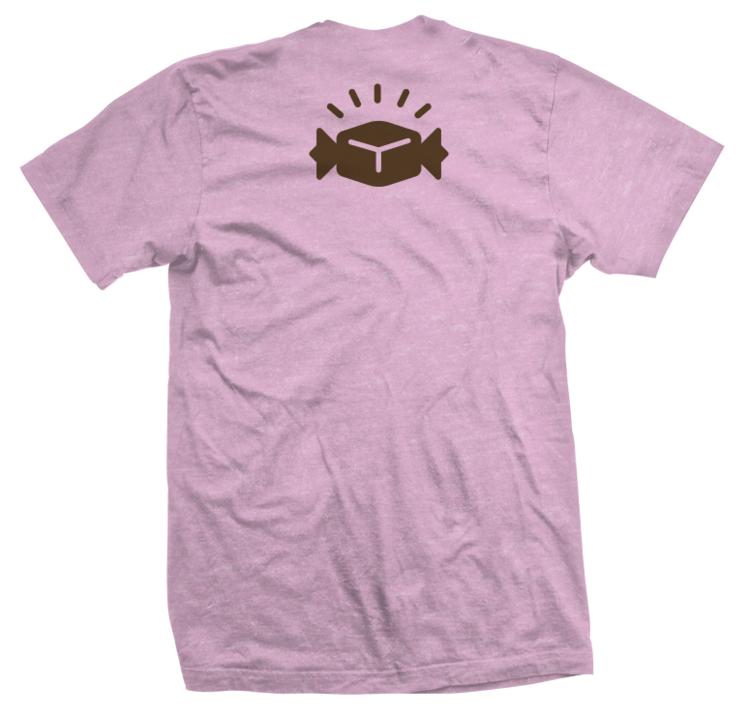 Treats the Cat on Bike T-Shirt, Light Pink   Coover Caramels