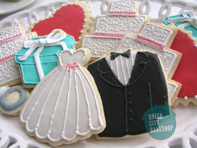 Custom Wedding Cookie Favours