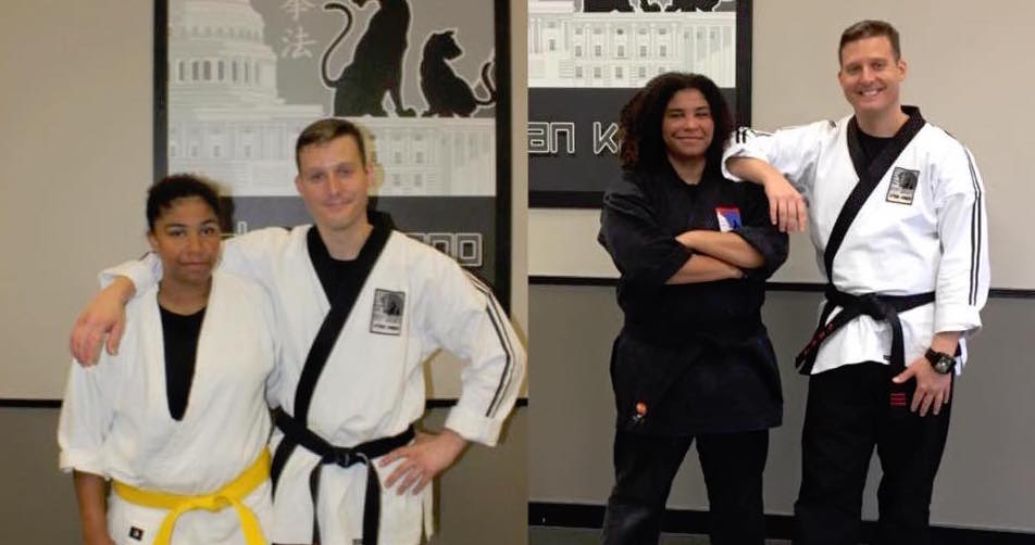Soraya at 13, and Sensei Soraya at 17!