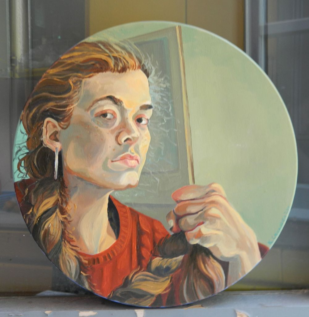 Self-Portrait with Braid