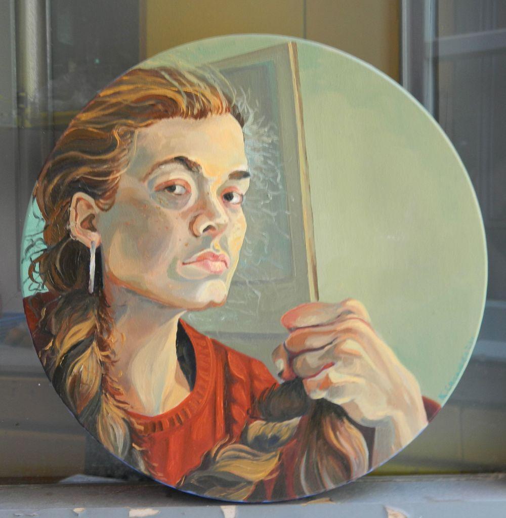 Self-Portrait with Braid