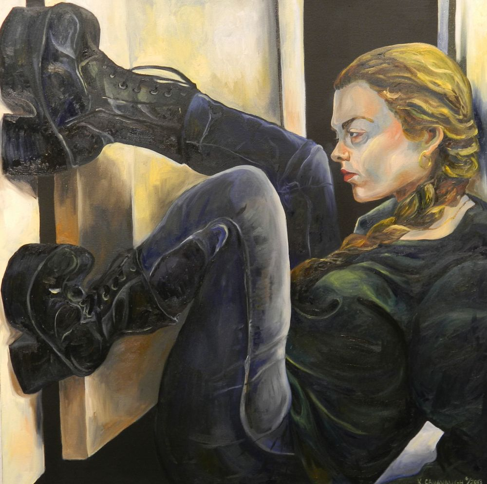 Self-Portrait with Boots