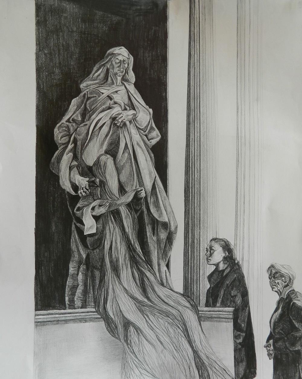 Il Pantheón con Santa Anna e la Madonna