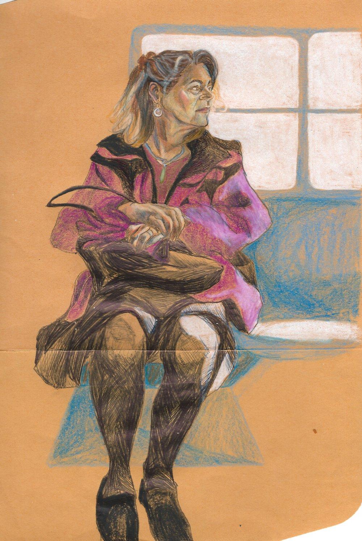 sketch of my mother, Sarah