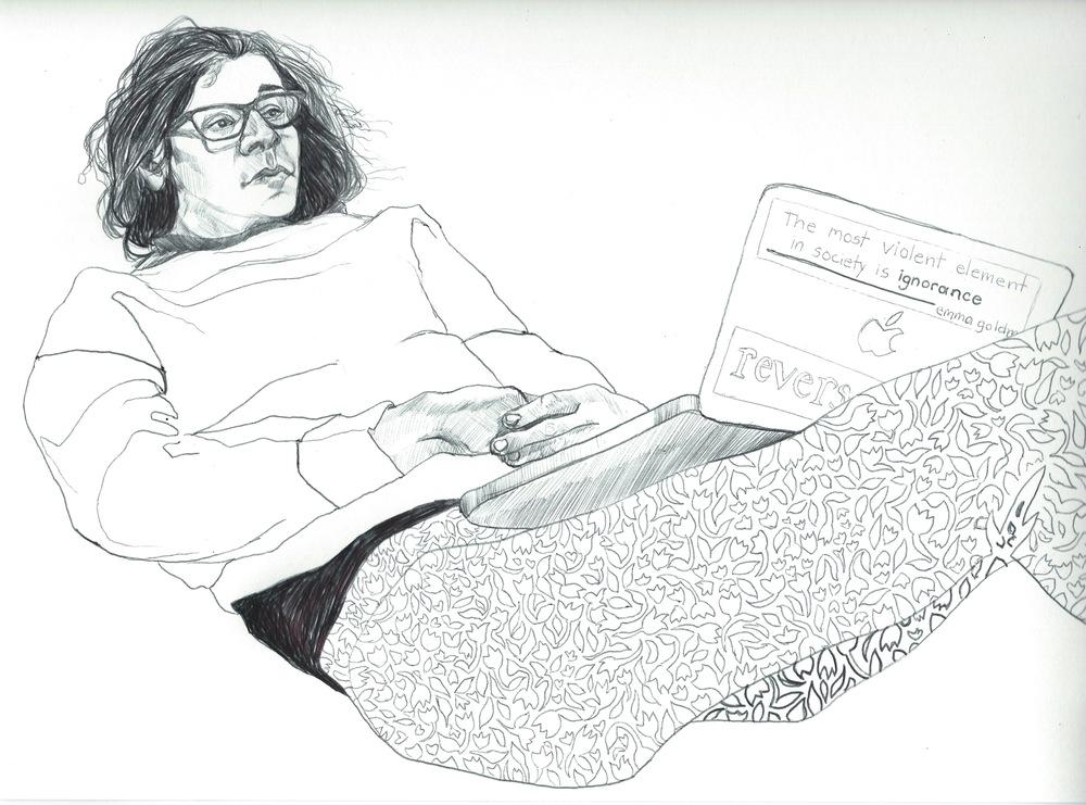 sketch of Arielle Haut