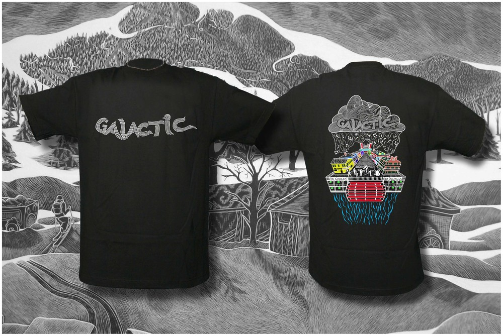 Galactic Funk New Orleans. Tshirt Design