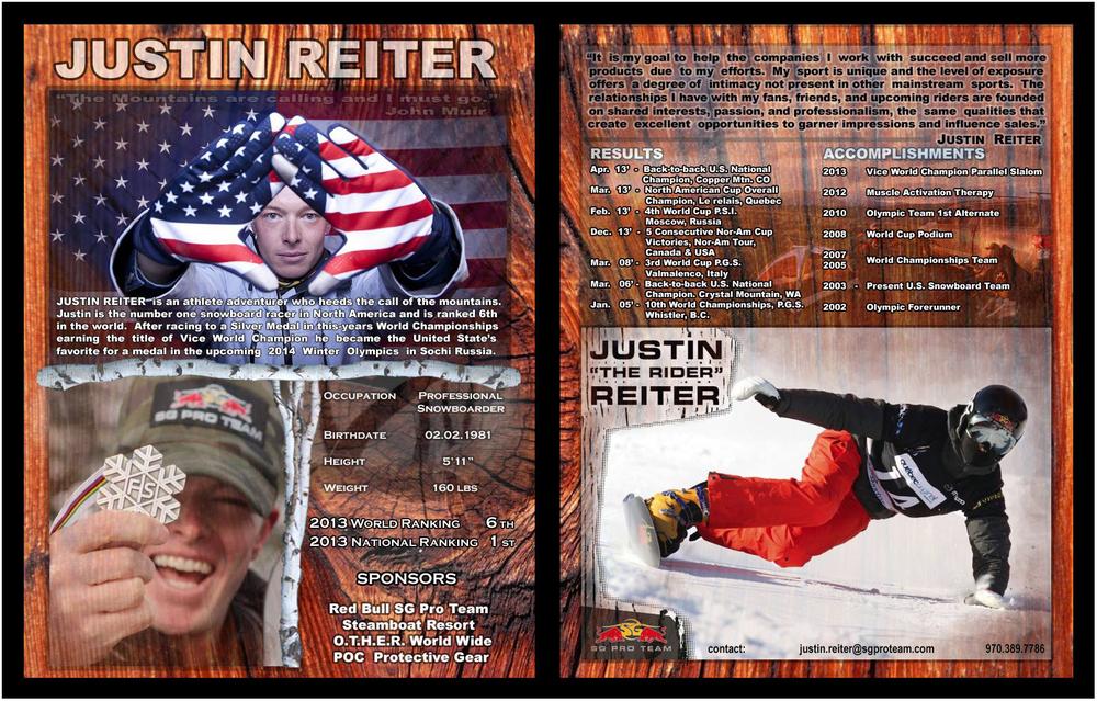 Olympian Justin Reiter. Athlete Profile