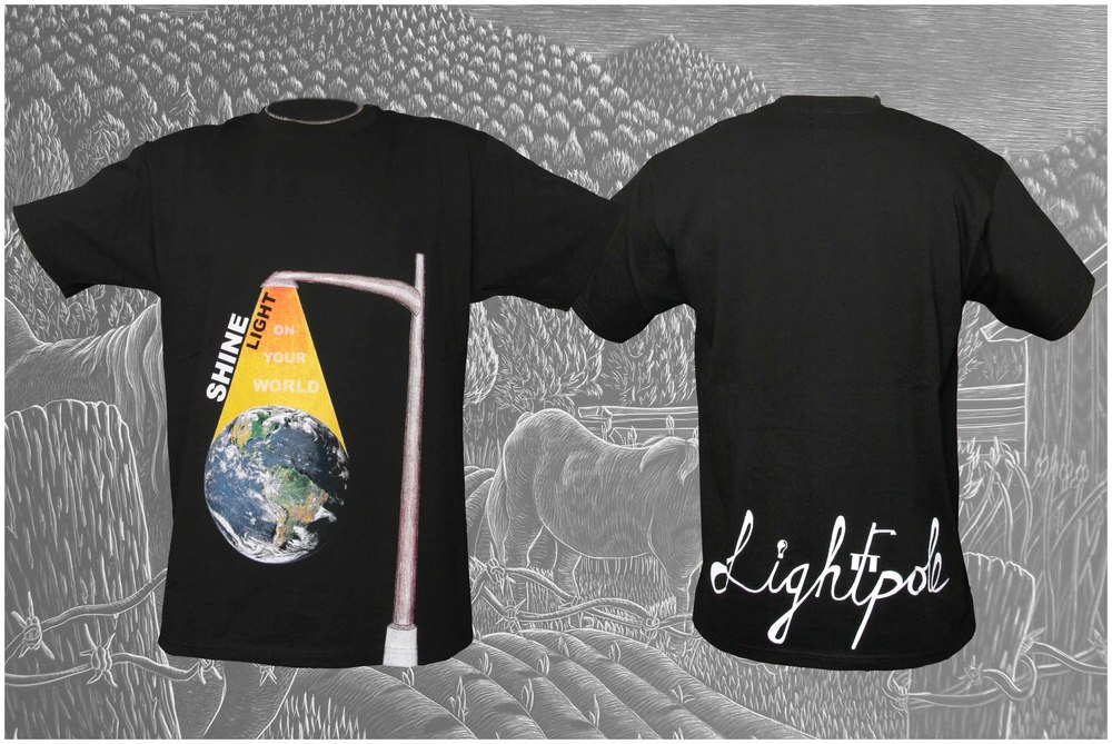 Shine Light On Your World. Tshirt Design