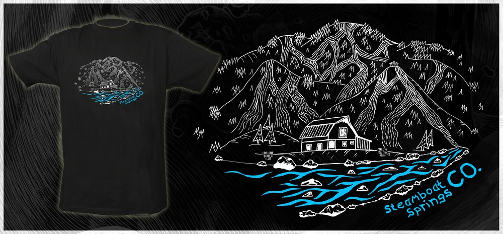 Mt. Werner Steamboat T-Shirt Design