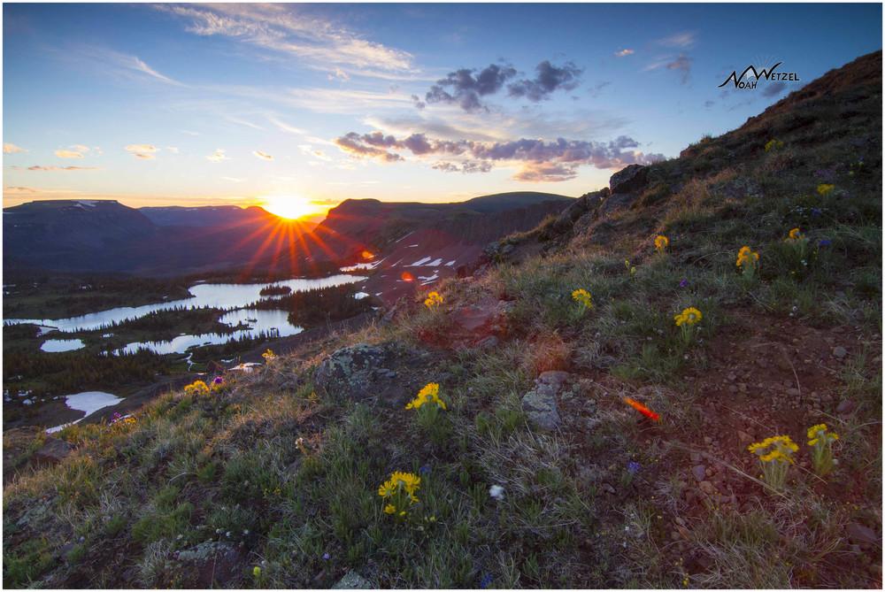 Sunrise above Island Lake. Flat Tops Wilderness, Colorado